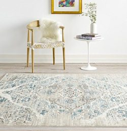 4620 Distressed Cream 6'5×9'2 Area Rug Carpet Large New