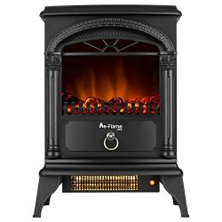 Hamilton Portable Free Standing Electric Fireplace Stove by e-Flame USA – 22-inches Tall – Matte ...