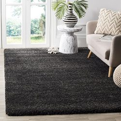 Safavieh Milan Shag Collection SG180-8484 Dark Grey Area Rug (8'6″ x 12′)