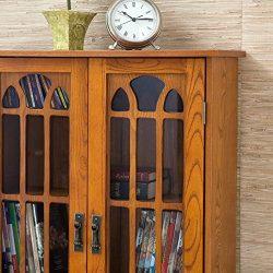 Window Pane Media Cabinet – Oak