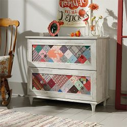 Sauder Eden Rue 2 Drawer Accent Chest in White Plank