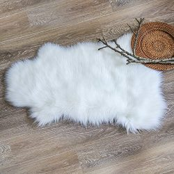 Ashler Soft Faux Sheepskin Fur Chair Couch Cover Area Rug For Bedroom Floor Sofa Living Room 2 x ...
