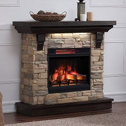 Eugene Electric Fireplace Mantel Package in Aged Coffee – 23WM8909-I612