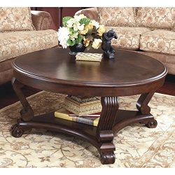 Ashley Furniture Signature Design – Brookfield Coffee Table – Cocktail Height &#8211 ...