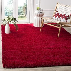 Safavieh Milan Shag Collection SG180-4040 Red Area Rug (6′ x 9′, Red