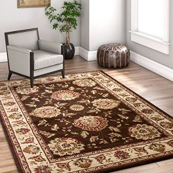 "Sultan Sarouk Brown Oriental 8×10 (7'10"" x 10'6″) Area Rug Persian  ..."