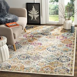 Safavieh Madison Collection MAD611B Bohemian Vintage Cream and Multi Area Rug (5'1″  ...