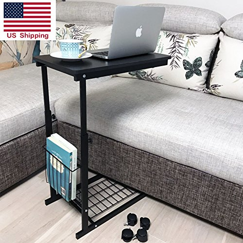 Micoe Height Adjustable With Wheels Sofa Side Table Slide