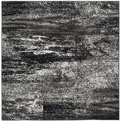 Safavieh Adirondack Collection ADR112A Silver and Black Modern Abstract Square Area Rug (8&#8242 ...