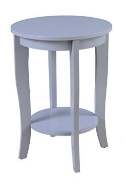 Convenience Concepts 7106259GY American Heritage Accent End Table, Gray