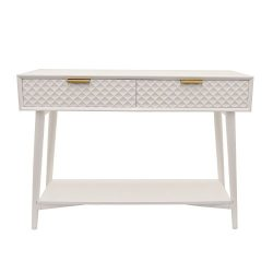 Three Hands Console Table Home Décor Accent, White