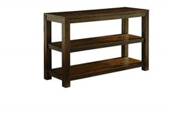 Ashley Furniture Signature Design – Grinlyn Sofa Table – 2 Fixed Shelves – Vin ...
