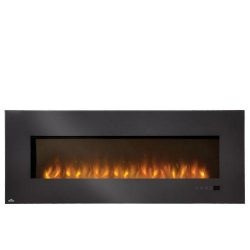Napoleon EFL60H ELECTRIC FIREPLACE with DECORATIVE CLEAR GLASS EMBERS, 110 VOLT, 1500 WATTS, 500 ...