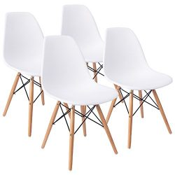 Eames Pre Assembled Dining Chair Effiel Modern DSW Chair, Shell Lounge Chair for Kitchen, Dining ...