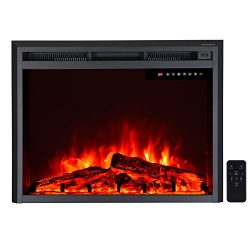 "36"" Electric Fireplace Insert,Freestanding & Recessed Electric Stove Heater,Touch Scre ..."