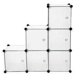C&AHOME – DIY 6 Cube Storage Organizer Closet Media Storage Cabinet Bookcase Shelf Toy ...
