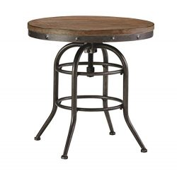 Ashley Furniture Signature Design – Vennilux End Table – Vintage Casual – Roun ...