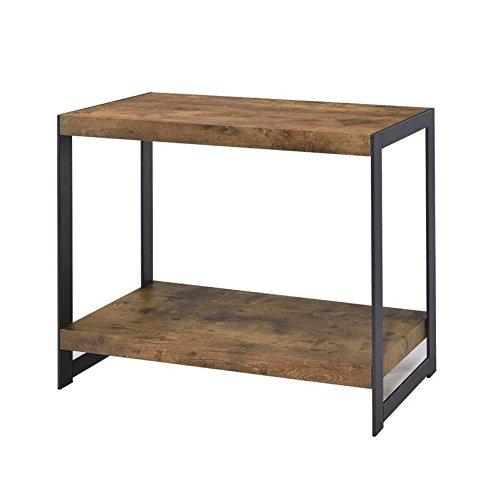 Coaster Home Furnishings 704029 Soft Table, NULL, Antique Nutmeg/Gunmetal