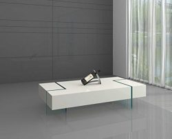 Neos Modern Furniture CT2853WH Coffee Table, White