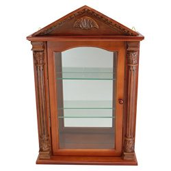 Glass Curio Cabinets – Essex Hall – Wall Mounted Curio Cabinet