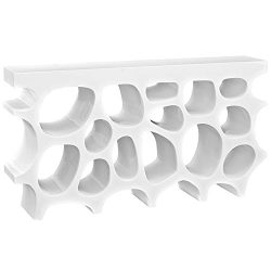 Modway Wander Medium Stand In White – Modern Console Table For Entryway – Magazine O ...