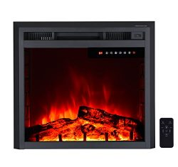 """26"""" Electric Fireplace Insert,Freestanding & Recessed Electric Stove Heater,Touch Scre ..."""