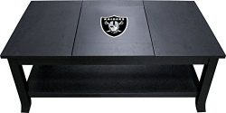 Imperial Officially Licensed NFL Furniture: Hardwood Coffee Table, Oakland Raiders