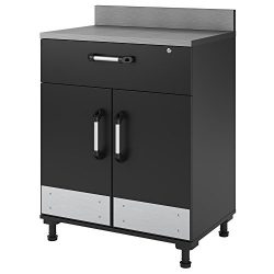 SystemBuild 7461315COM Base Cabinet 2 Door and 1 Drawer, Gray