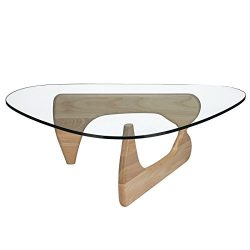 Poly and Bark Sculpture Coffee Table in Natural