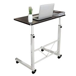 Dland Laptop Stand Adjustable 31.4″ Medium Size Computer Standing Desk Portable Cart Tray  ...