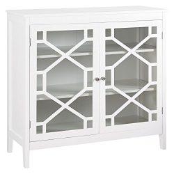 Linon Fetti 38″ Curio Cabinet in White