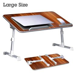 Avantree [Large Size] Adjustable Laptop Bed Table, Portable Standing Desk, Foldable Sofa Breakfa ...
