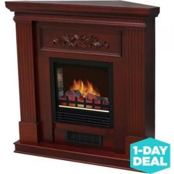 Classic Electric Fireplace with 38″ Mantle, Dark Cherry