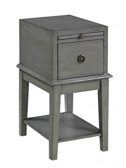 Treasure Trove Accents 16870 One Drawer Chairside Chest, 14″ x 19″ x 26″