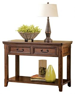 Ashley Furniture Signature Design – Woodboro Sofa Table – Entertainment Console R ...