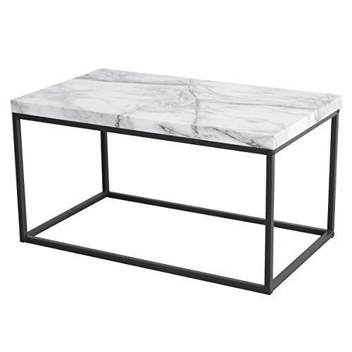 Marque Genuine Marble Top Coffee Table: Tilly Lin Modern Accent Faux Marble Top Coffee Table For
