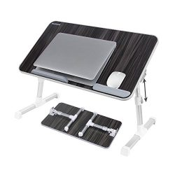 Laptop Bed Tray Table, Nearpow ( Larger Size ) Adjustable Laptop Bed Stand, Portable Standing Ta ...
