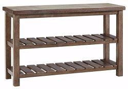Ashley Furniture Signature Design – Vennilux Sofa/Console Table – 2 Shelves –  ...