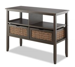 Whitmor BAHAMA 2-Drawer Storage Console Entryway Table, Espresso