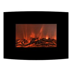 FLAME&SHADE Electric Fireplace Heater, Small Wall Fireplace with Remote, Freestanding or Wal ...