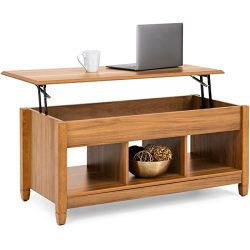 Best Choice Products Rectangular Lift Top Coffee Table w/ Hidden Compartment And Lift Tabletop ( ...