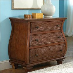 Beaumont Lane Bombe Accent Chest in Warm Rum