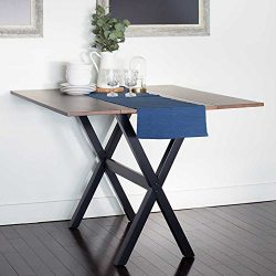 Solid Wood Drop Leaf Dining Room Table – Folding Kitchen Table to Save Space – Seats ...