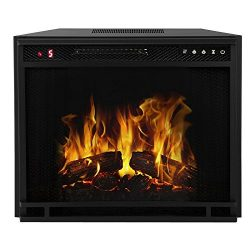 Regal Flame 28″ Flat Ventless Heater Electric Fireplace Insert Better than Wood Fireplaces ...