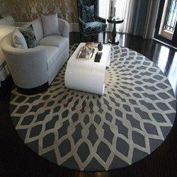 WAN SAN QIAN- Creative Round Living Room Carpet Fashion Round Carpet Home Carpet Bedside Blanket ...