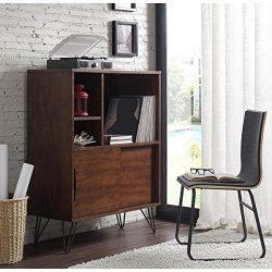 Storage Cabinet and Bookcases | Retro Clifford Media Bookshelf Console