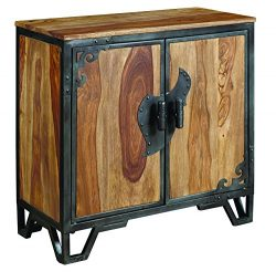 Pulaski DS-P006004 Country Wood and Metal 2 Door Accent Chest with Microphone Hand Pulls, 28&#82 ...