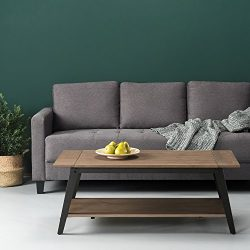 Zinus Wood and Metal Coffee Table