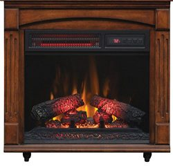 Brand New ChimneyFree Electric Infrared Quartz Fireplace with Remote, 5,200 BTU, Cherry