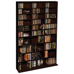 Atlantic Adustable Media Storage & Organization Product, Espresso (38435714)